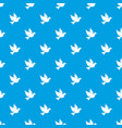 dove pattern seamless blue vector image vector image