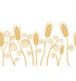 ears of wheat horizontal border seamless vector image