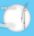 eco wind energy concept energy conservation vector image