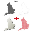 England outline map set vector image vector image