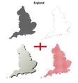 England outline map set vector image