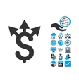 Expences Flat Icon With Bonus vector image vector image