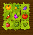farm game field match 3 with vegetables vector image