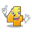finger number four isolated on the mascot vector image