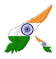 flag india on abstract wing and white vector image