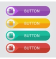 flat buttons with notepad icon vector image vector image