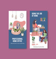flyer and brochure template design with people vector image vector image
