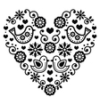 Folk art Valentines Day heart - love wedding vector image vector image