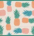 folk tribal pineapples background vector image vector image