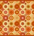 geometric circle mosaic pattern background vector image vector image