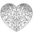 geometric polyart heart shape inspired in black vector image