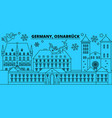 germany osnabruck winter holidays skyline merry vector image vector image