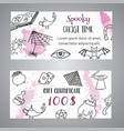 hand drawn halloween banner free voucher template vector image vector image