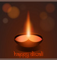 happy diwali festival background greeting card vector image