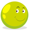 Happy face on round ball vector image vector image