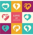 heart world - love vector image vector image