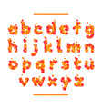 holiday orange font isolated on white bg vector image vector image