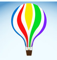 hot air balloon on blue sky vector image vector image