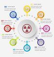 infographic template with warning sign icons vector image