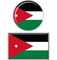 Jordan round and square icon flag vector image