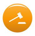 legal gavel icon orange vector image vector image