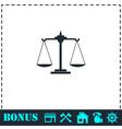 Libra icon flat vector image vector image