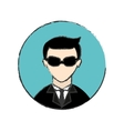 male spy icon image vector image
