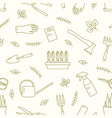 monochrome seamless pattern with gardening tools vector image