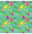 Nature seamless pattern with birds and leafs vector image vector image