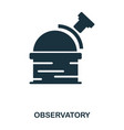 observatory icon flat style icon design ui vector image vector image