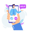 personal assistant service virtual technical vector image