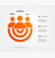 personal growth target infographics element of vector image