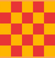 red and yellow checkered background vector image