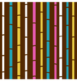 retro bamboo pattern vector image