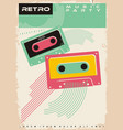 retro music party poster vector image vector image