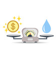 scales water money or finance choice vector image vector image