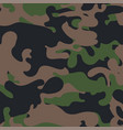 seamless camouflage pattern military fabric vector image vector image