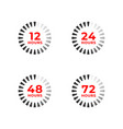 set color icons 12 24 48 72 hours