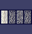 set decorative laser cut panels vector image vector image