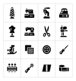 Set icons of sewing vector image vector image