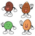 set of beans cartoon vector image