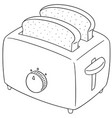 set of bread and toaster vector image vector image