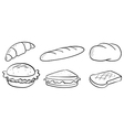 Silhouettes of bread vector image vector image