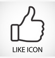 simple like icon vector image