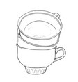 sketch of cups vector image vector image