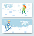 skiing and winters sports banners set vector image