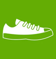sneakers icon green vector image vector image