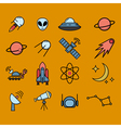 Space exploration icons vector image