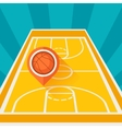 sports background with basketball court and marker vector image