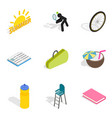 stripling icons set isometric style vector image vector image